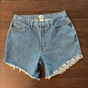 NORDSTROM JEAN SHORTS LIGHT BLUE SZ 16 high waist